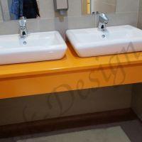 mobila-baie-orange-doua-chivete-oglinda